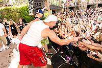LAS VEGAS, NV - APRIL 29: Mojo Rawley and Rob Gronkowski at Rehab at The Hard Rock Hotel & Casino in Las Vegas, Nevada on April 29, 2017. Credit: GDP Photos/MediaPunch