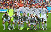 Spain team group line up before kick off