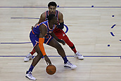 17th January 2019, The O2 Arena, London, England; NBA London Game, Washington Wizards versus New York Knicks; Noah Vonleh of the New York Knicks is guarded by Otto Porter Jr of the Washington Wizards