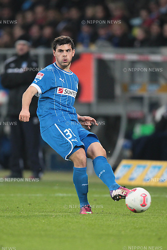 Kevin Volland (Hoffenheim),.FEBRUARY 17, 2013 - Football / Soccer :.Bundesliga match between TSG 1899 Hoffenheim 0-1 VfB Stuttgart at Rhein-Neckar-Arena in Sinsheim, Germany. (Photo by AFLO)