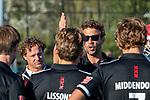 ROTTERDAM-  finale ABN AMRO CUP 2019. Bloemendaal-Amsterdam (1-3) . coach Xanti Freixa (Adam) met links assistent-coach Jan Jorn van 't Land (Adam). COPYRIGHT KOEN SUYK.