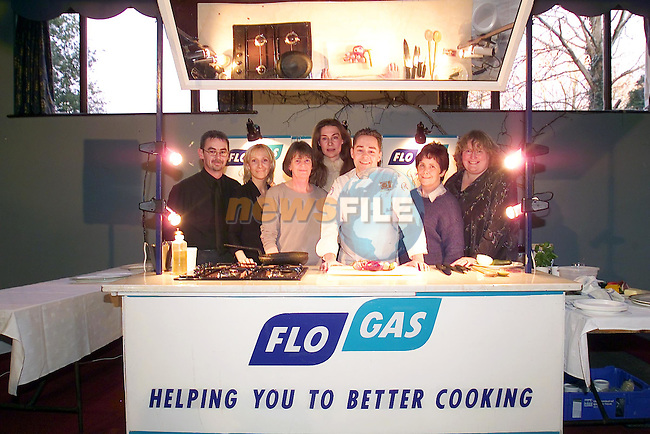 L to R. David Corrigan, Eileen McConnoran, Sandra Rodgers, Neven Maguire Flo Gas Demonstrator, Breda Butterly and Eileen Byrne at the cookery demonstration sponsored by Flo gas in aid of the Tullydonnell national School held in the Grove Dunleer...Picture Fran Caffrey Newsfile...This Picture is sent to you by:..Newsfile Ltd.The View, Millmount Abbey, Drogheda, Co Louth, Ireland..Tel: +353419871240.Fax: +353419871260.GSM: +353862500958.ISDN: +353419871010.email: pictures@newsfile.ie.www.newsfile.ie
