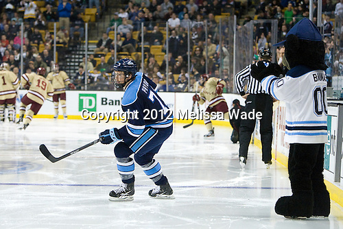 Nick Pryor (Maine - 71), Bananas - The Boston College Eagles defeated the University of Maine Black Bears 4-1 to win the 2012 Hockey East championship on Saturday, March 17, 2012, at TD Garden in Boston, Massachusetts.