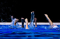 2018 North Island Synchronised Swimming Championships practice day at Wellington Regional Aquatics Centre in Wellington, New Zealand on Friday, 18 May 2018. Photo: Dave Lintott / lintottphoto.co.nz
