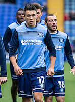 Luke O'Nien of Wycombe Wanderers during the FA Cup 1st round match between Portsmouth and Wycombe Wanderers at Fratton Park, Portsmouth, England on the 5th November 2016. Photo by Liam McAvoy.
