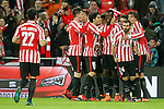 Athletic de Bilbao's Raul Garcia, Xabier Etxeita, Ander Iturraspe, Mikel Balenziaga, Enric Saborit,  Inaki Williams, Aritz Aduriz and Mikel San Jose celebrate goal during Spanish Kings Cup match. January 05,2017. (ALTERPHOTOS/Acero)