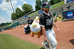 4 JUNE 2016: Nova Southeastern University makes their arrival during the Division II Men's Baseball Championship between Millersville University and Nova Southeastern University at the USA Baseball National Training Complex in Cary, NC.  Nova Southeastern University defeated Millersville University 8-6 to win the national title. Grant Halverson/NCAA Photos