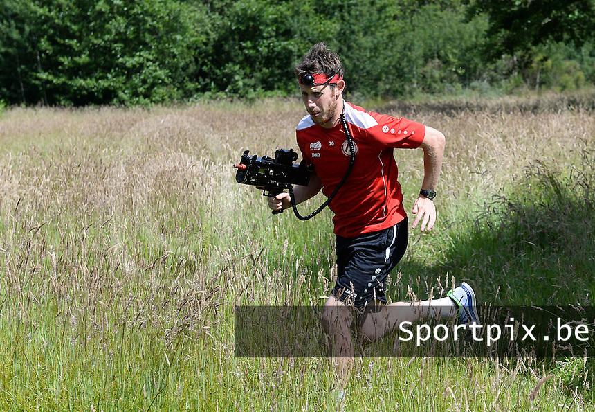 KV Kortrijk Stage Berck sur Mer : teambuilding met Thomas Matton op de loop<br /> foto VDB / BART VANDENBROUCKE