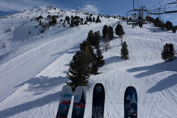 John and Beth  skiing Les Arcs, France.