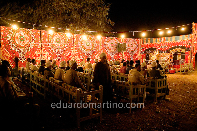 A wedding in old Qurna follows the typical local traditions, with 3-day long celebrations, religious ceremonies and several lively parties all around the village..Luxor, Egypt..Photo: Eduardo Martino