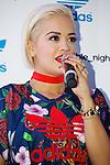 "Rita Ora, September 19, 2014 : British singer, songwriter and actress Rita Ora greets fans and media during the ""adidas Originals by Rita Ora"" launch on September 19, 2014 in Tokyo, Japan. (Photo by Rodrigo Reyes Marin/AFLO)"