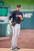 Albuquerque Isotopes starting pitcher Evan Grills (28) throws before the game against the Salt Lake Bees at Smith's Ballpark on April 24, 2019 in Salt Lake City, Utah. The Isotopes defeated the Bees 5-4. (Stephen Smith/Four Seam Images)