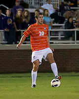 The number 24 ranked Furman Paladins took on the number 20 ranked Clemson Tigers in an inter-conference game at Clemson's Riggs Field.  Furman defeated Clemson 2-1.  Austen Burnikel (20)