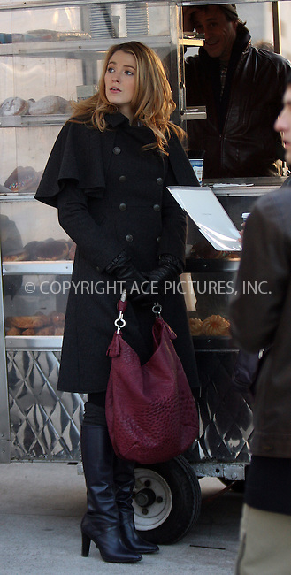 WWW.ACEPIXS.COM . . . . .  ....December 18 2008, New York City....Actress Blake Lively on the set of the TV show 'Gossip Girl' on December 18 2008 in New York City....Please byline: AJ Sokalner - ACEPIXS.COM..... *** ***..Ace Pictures, Inc:  ..tel: (212) 243 8787..e-mail: info@acepixs.com..web: http://www.acepixs.com