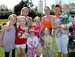 Kyle, Tracey, Casey and Adeline Flanagan, Mary, Miriam and Grace Farnham and Kayleigh Kennedy pictured at Tullyallen sports day. Photo: Colin Bell/pressphotos.ie