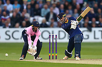 Ryan ten Doeschate hits four runs for Essex as John Simpson looks on from behind the stumps during Essex Eagles vs Middlesex, NatWest T20 Blast Cricket at The Cloudfm County Ground on 11th August 2017