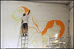 Lavori di trasformazione negli spazi interni di Bunker, il nuovo progetto di Urbe nell'ex stabilimento SICMA Torino. Agosto 2012