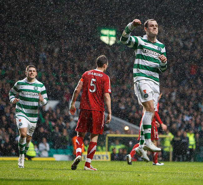 Anthony Stokes celebrates goal no 4 from the penalty spot