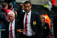 Saturday 17 August 2013<br /> <br /> Pictured: Rio Ferdenand arriving at  the Liberty Stadium<br /> <br /> Re: Barclays Premier League Swansea City v Manchester United at the Liberty Stadium, Swansea, Wales