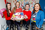 Kinga Maliszewska, Tara O'Halloran Quirke, Chleona Hussey and Grainne McGlynn at the Valentine's Coffee Morning in aid of Palliative Care Unit at UHK in the Ardfert Community Centre on Friday.