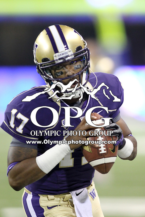 2013-10-26: Washington's Keith Price against Cal.  Washington won 41-17 over Cal in Seattle, WA.