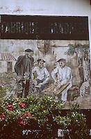 Europe/France/Aquitaine/64/Pyrénées-Atlantiques/Hendaye: Vieille enseigne d'une fabrique de sandales basques