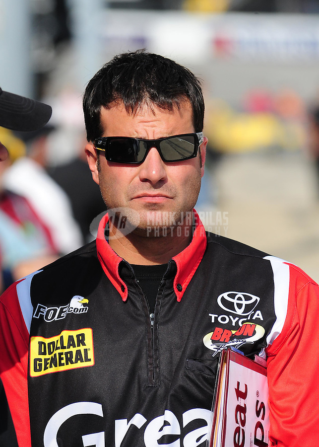 May 1, 2009; Richmond, VA, USA; NASCAR Nationwide Series crew chief Scott Zipadelli prior to the Lipton Tea 250 at the Richmond International Raceway. Mandatory Credit: Mark J. Rebilas-