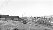 D&amp;RGW Gunnison yards with #278 on turntable and #489 on ready track with another K-36.<br /> D&amp;RGW  Gunnison, CO  Taken by Richardson, Robert W. - 10/3/1952