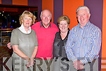 FUN: Having fun at the Castleisland Day Care Centre CD launch at the Riverisland hotel, Castleisland on Friday l-r: Rita McCarthy, Donal Nelligan, Mary O'Sullivan and Hugh Brosnan.