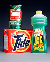 TIDE, COMET &amp; TOP JOB CLEANERS<br /> All Contain Sodium Carbonate<br /> Sodium carbonate is used as a water softening agent.