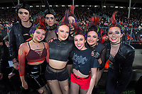 Halftime entertainers during the 2019 Super Rugby final between the Crusaders and Jaguares at Orangetheory Stadium in Christchurch, New Zealand on Saturday, 6 July 2019. Photo: Dave Lintott / lintottphoto.co.nz