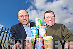 Toma?s Hayes (Kerry Enterprise Board) with Pat McGrath (Garryvoe Foods) in Monavalley Industrial Estate.