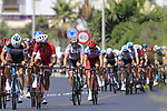 A second group tries to form at the start of Stage 4 of the La Vuelta 2018, running 162km from Velez-Malaga to Alfacar, Sierra de la Alfaguara, Andalucia, Spain. 28th August 2018.<br /> Picture: Eoin Clarke   Cyclefile<br /> <br /> <br /> All photos usage must carry mandatory copyright credit (&copy; Cyclefile   Eoin Clarke)