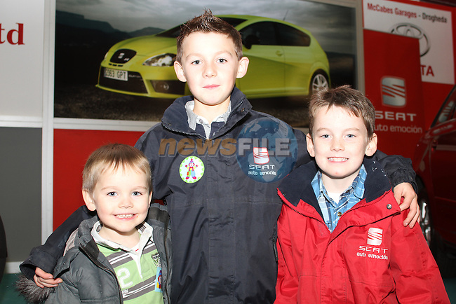 Sean Og, Jack and James Conachy at the Drogheda Motor Show...(Photo credit should read Jenny Matthews www.newsfile.ie)....This Picture has been sent you under the condtions enclosed by:.Newsfile Ltd..The Studio,.Millmount Abbey,.Drogheda,.Co Meath..Ireland..Tel: +353(0)41-9871240.Fax: +353(0)41-9871260.GSM: +353(0)86-2500958.email: pictures@newsfile.ie.www.newsfile.ie.