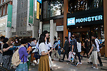 People line up outside the ''Ice Monster'' shaved ice store in Omotesando on June 20, 2015, Tokyo, Japan. According to staff 150 customers lined up in the morning to buy giant shaved ice desserts from the Taiwanese store. (Photo by Rodrigo Reyes Marin/AFLO)
