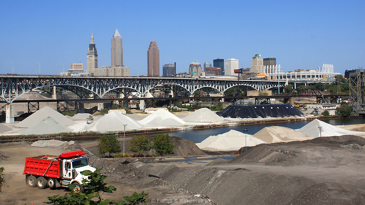 The Cleveland skyline from looking northeast.