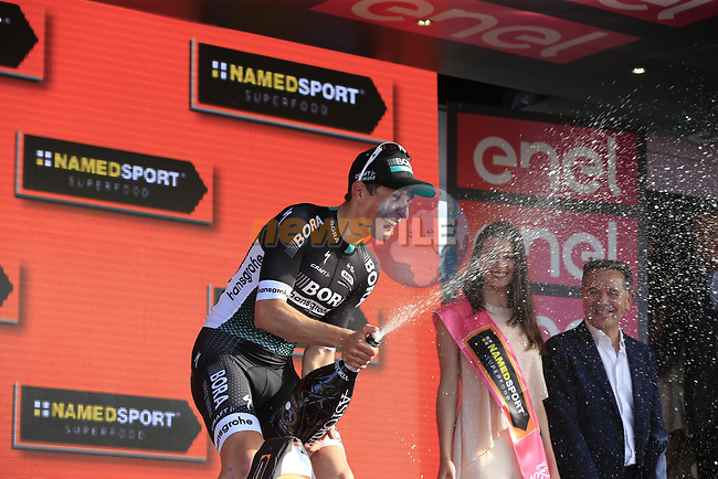 Lukas Postlberger (AUT) Bora-Hansgrohe wins Stage 1 of the 100th edition of the Giro d'Italia 2017, running 206km from Alghero to Olbia, Sardinia, Italy. 4th May 2017.<br /> Picture: Eoin Clarke | Cyclefile<br /> <br /> <br /> All photos usage must carry mandatory copyright credit (&copy; Cyclefile | Eoin Clarke)<br /> <br /> All photos usage must carry mandatory copyright credit (&copy; Cyclefile | LaPresse)