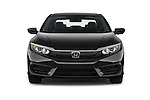 Car photography straight front view of a 2016 Honda Civic LX 4 Door Sedan Front View