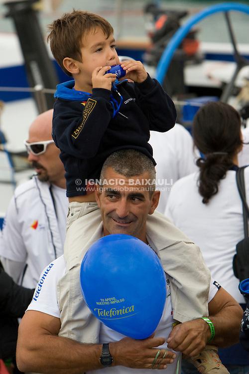 TELEFONICA RACING TEAM .Volvo Ocean Race leg 1 start in Alicante, Spain 11/10/2008 VOLVO OCEAN RACE 2008-2009