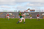 Kerry's Paud Costello and Eoin Price of Westmeath in the Allianz Hurling League Division 2A Final, Westmeath v Kerry. Gaelic Grounds, Limerick, Saturday 4th April 2015.
