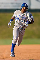 Victor Soto #35 of the Burlington Royals legs out a triple at Howard Johnson Stadium June 27, 2009 in Johnson City, Tennessee. (Photo by Brian Westerholt / Four Seam Images)