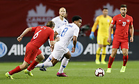 TORONTO, ON - OCTOBER 15: Weston McKennie #8 of the United States turns and moves with the ball during a game between Canada and USMNT at BMO Field on October 15, 2019 in Toronto, Canada.