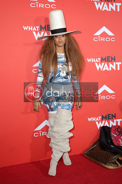"Erykah Badu<br /> at the ""What Men Want"" Premiere, Village Theater, Westwood, CA 01-28-19<br /> David Edwards/DailyCeleb.com 818-249-4998"
