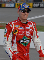 May 4, 2007; Richmond, VA, USA; Nascar Nextel Cup Series driver Kyle Busch (5) during qualifying for the Jim Stewart 400 at Richmond International Raceway. Mandatory Credit: Mark J. Rebilas