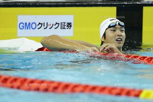 Junya Koga (JPN), APRIL 11th, 2011 - Swimming : The men's 50m backstroke final in the international swimming competitions selection trial at ToBiO Furuhashi Hironoshin Memorial Hamamatsu City Swimming Pool, Shizuoka, Japan. (Photo by AFLO) [2268]