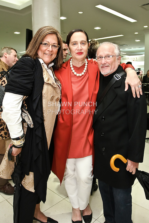 Fern Mallis, Rebecca Moses and guest pose together at the Rebecca Moses 2010 Heart Soul Style Collection presentation at Macy's Herald Square, May 12 2010.