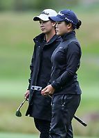 Munchin Keh caddies for sister Siyi Keh. New Zealand Amateur Championship, Wairakei Golf Course and Sanctuary, Taupo, New Zealand, Saturday 3 November 2018. Photo: Simon Watts/www.bwmedia.co.nz