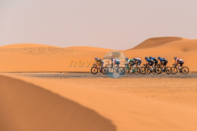 Action from Stage 1 of the Saudi Tour 2020 running 173km from Saudi Arabian Olympic Committee to Jaww, Saudi Arabia. 4th February 2020. <br /> Picture: ASO/Kåre Dehlie Thorstad | Cyclefile<br /> All photos usage must carry mandatory copyright credit (© Cyclefile | ASO/Kåre Dehlie Thorstad)