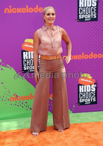 13 July 2017 - Los Angeles, California - Lindsey Vonn. Nickelodeon Kids' Choice Sports Awards 2017 held at Pauley Pavilion. Photo Credit: F. Sadou/AdMedia