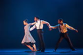 London, UK. 17 March 2016. L-R: Sayaka Ichikawa, Jacob Wye and Joshua Harriette. Storyville by Christopher Hampson. Ballet Black present a Triple Bill at the Barbican Theatre on 18 and 19 March 2016. Premiere of Cristaux choreographed by Arthur Pita, the premiere of To Begin, Begin by Christopher Marney and a reworked version of Storyville by Christopher Hampson. Dancers performing are Cira Robinson, Kanika Carr, Isabela Coracy, Sayaka Ichikawa, Damien Johnson, Jacob Wye, Mthuthuzeli November and Joshua Harriette.